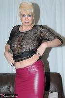 . Pink Leather Skirt Free Pic 9