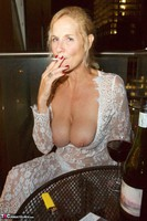 Molly MILF. On The Balcony At Night Free Pic 8