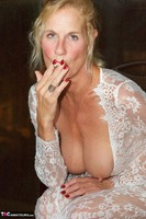 Molly MILF. On The Balcony At Night Free Pic 9