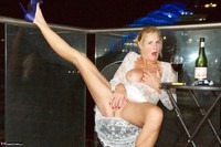 Molly MILF. On The Balcony At Night Free Pic 11