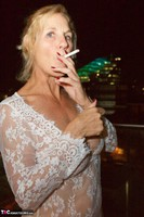 Molly MILF. On The Balcony At Night Free Pic 17