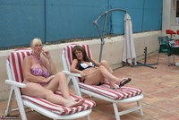 Melody. Sunbed Shenanigans With Pandora Pt1 Free Pic 3