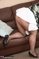 Kinky Carol. White Frilly Mini & Fishnets Pt1 Free Pic 8