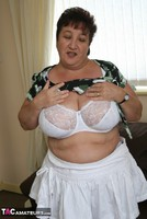 Kinky Carol. White Frilly Mini & Fishnets Pt1 Free Pic 12