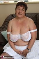 Kinky Carol. White Frilly Mini & Fishnets Pt1 Free Pic 15