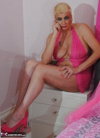 . Pink Crotchless Bodysuit Free Pic 1