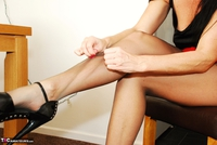Raunchy Raven. Raven Rips Her Pantyhose In A Red Hot Mini Skirt Pt1 Free Pic 17