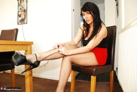 Raunchy Raven. Raven Rips Her Pantyhose In A Red Hot Mini Skirt Pt1 Free Pic 18
