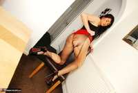 Raunchy Raven. Raven Rips Her Pantyhose In A Red Hot Mini Skirt Pt2 Free Pic 16