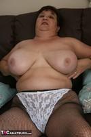 Kinky Carol. White Frilly Mini & Fishnets Pt2 Free Pic 4