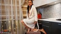 Diana Ananta. White Bathrobe Free Pic 1