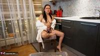 Diana Ananta. White Bathrobe Free Pic 6