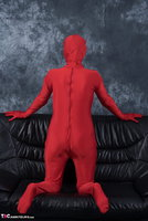 Hot Milf. Posing In My Red Funsuit Pt1 Free Pic 1