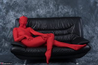 Hot Milf. Posing In My Red Funsuit Pt1 Free Pic 6