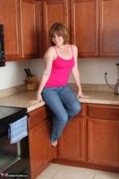 Misty B. Blue Jeans Strip Free Pic 5