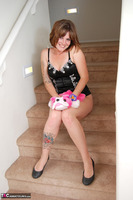 Misty B. stripping on the steps Free Pic 5