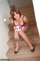Misty B. stripping on the steps Free Pic 6