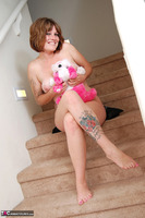 Misty B. stripping on the steps Free Pic 18