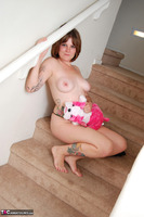 Misty B. stripping on the steps Free Pic 19