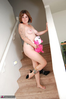 Misty B. Playing with my pussy on the steps Free Pic 1