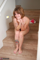 Misty B. Playing with my pussy on the steps Free Pic 7