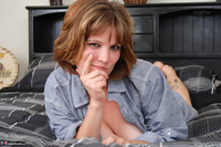 Misty B. Blue denim shirt Free Pic 15