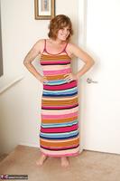 Misty B. Stripey dress striptease Free Pic 2