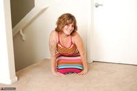 Misty B. Stripey dress striptease Free Pic 7