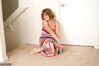 Misty B. Stripey dress striptease Free Pic 8