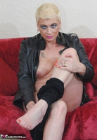. Smoking In A Leather Jacket Free Pic 10