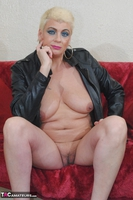 . Smoking In A Leather Jacket Free Pic 12