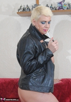 . Smoking In A Leather Jacket Free Pic 17