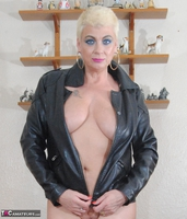 . Smoking In A Leather Jacket Free Pic 20