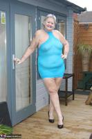 ValGasmic Exposed. Blue Dress Free Pic 1