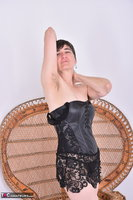 Hot Milf. Leather Corsage In Wicker Chair Pt1 Free Pic 11