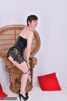 Hot Milf. Leather Corsage In Wicker Chair Pt1 Free Pic 16