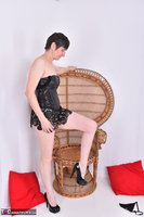 Hot Milf. Leather Corsage In Wicker Chair Pt1 Free Pic 17