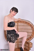 Hot Milf. Leather Corsage In Wicker Chair Pt1 Free Pic 19