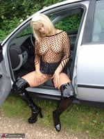 Sweet Susi. Posing In My PVC Thigh Boots With The Car Free Pic 4
