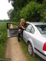 Sweet Susi. Posing In My PVC Thigh Boots With The Car Free Pic 5