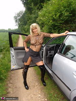 Sweet Susi. Posing In My PVC Thigh Boots With The Car Free Pic 9