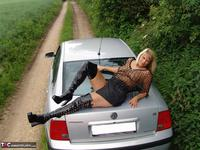 SweetSusi. Posing In My PVC Thigh Boots With The Car Free Pic 17