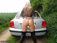 SweetSusi. Posing In My PVC Thigh Boots With The Car Free Pic 18