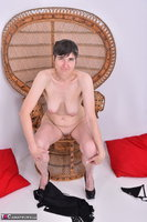 Hot Milf. Leather Corsage In Wicker Chair Pt2 Free Pic 7