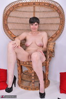 Hot Milf. Leather Corsage In Wicker Chair Pt2 Free Pic 9