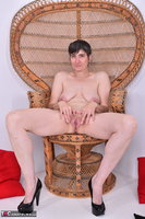 Hot Milf. Leather Corsage In Wicker Chair Pt2 Free Pic 11