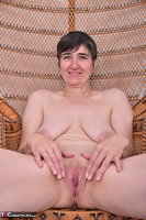 Hot Milf. Leather Corsage In Wicker Chair Pt2 Free Pic 12