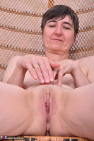 Hot Milf. Leather Corsage In Wicker Chair Pt2 Free Pic 13