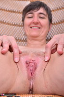 Hot Milf. Leather Corsage In Wicker Chair Pt2 Free Pic 16