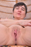 Hot Milf. Leather Corsage In Wicker Chair Pt2 Free Pic 17